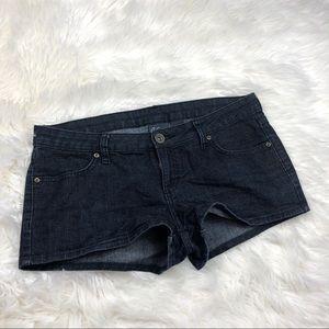 City streets dark wash shorts Sz 9 midrise studded